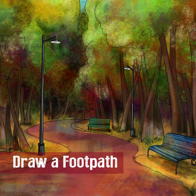 Walking Path Drawing