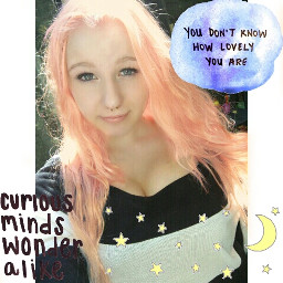 cute girl quotes & sayings pink hair pastel transparents