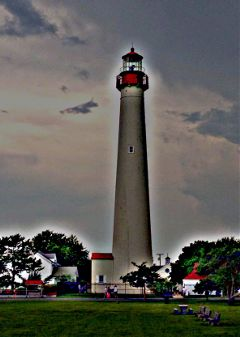 capemay lighthouse dawn
