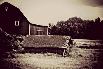black & white nature photography barn farm sepia