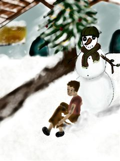 christmas drawing colorful emotions winter