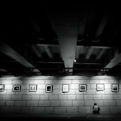 korea black & white people travel photography