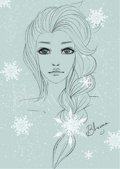 drawing disney winter snow pencil art