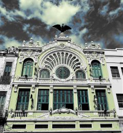 color splash eagle sky travel rio oldbuilding
