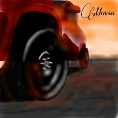 cars colorful drawing
