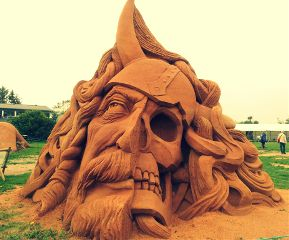 art summer travel sand viking mythology