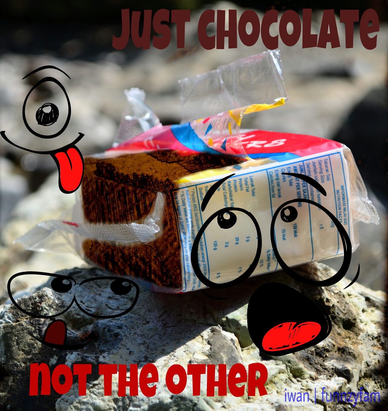 chocolate ad graphic design