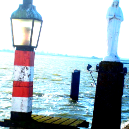 mary statue travel holland water
