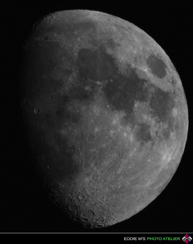 La luna  Luna (same meaning in Italian, Spanish and Romanian languages) means moon... so, here's the moon captured with my 1300 mm lens... shot taken in Nashville, TN.