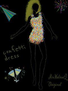 drawing fashion dress party