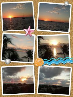 sunrise sunset key west collage time lapse