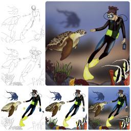 drawstepbystep tutorial picsart drawing