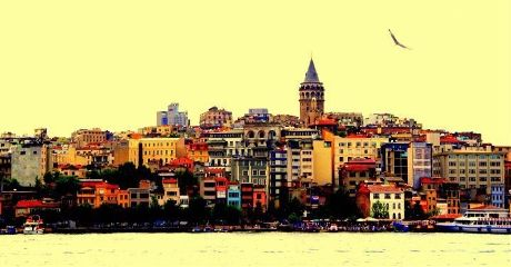 color splash istanbul popart galata colorful photography